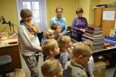 Dzieci w biblotece z Gorzanowa-30.10.2014