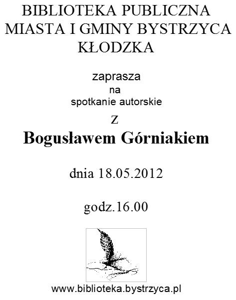 Spotkanie z Bogusławem Górniakiem